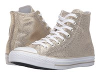 Converse Chuck Taylor All Star Stingray Metallic Hi Light Gold Black White Women's Lace Up Casual Shoes