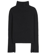 Proenza Schouler Wool And Cashmere Blend Knitted Turtleneck Black