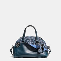 Coach Outlaw Satchel 36 In Printed Haircalf Black Copper Ranch Floral Mist