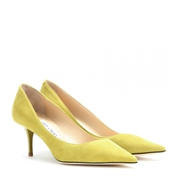Jimmy Choo Aurora Suede Pumps Acid Yellow