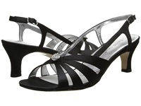 David Tate Rosette Black Satin Women's 1 2 Inch Heel Shoes