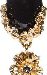Oscar De La Renta Jet Resin Bouquet Necklace Black