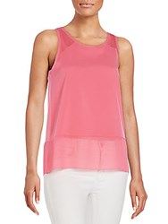 French Connection Polly Sheer Hem Tank Ziggy Pink