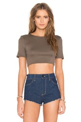 Twenty Perfect Rib Crop Top Green