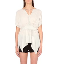 Allsaints Nevis Crepe Top Oyster White
