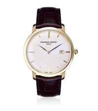 Frederique Constant Slim Line Automatic Watch With Croc Strap Unisex