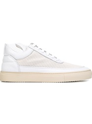 Filling Pieces Perforated Platform Sneakers White