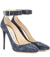 Jimmy Choo Memento Helena 110 Glitter Pumps Blue