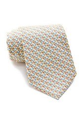 Tailorbyrd Fish Silk Tie Yellow