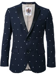Education From Youngmachines Star Embroidered Blazer Blue