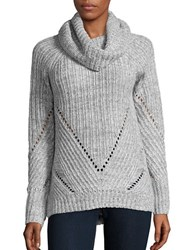 Calvin Klein Jeans Chunky Ribbed Funnelneck Sweater Alloy