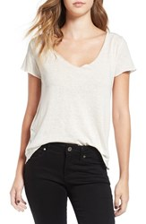 Obey Women's 'Dylan' V Neck Tee Natural