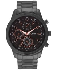 Unlisted Men's Chronograph Gunmetal Bracelet Watch 46Mm 10027761 Only At Macy's Black