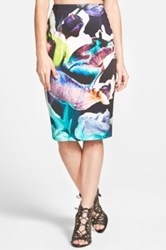 Finders Keepers 'Take A Chance' Midi Skirt Juniors Multi