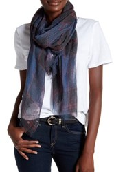 14Th And Union Classic Plaid Scarf Blue
