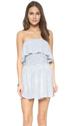 Blue Life Festival Romper Cloud Denim