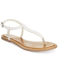 American Rag Krista T Strap Flat Sandals Only At Macy's Women's Shoes White