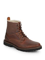 French Connection Finley Leather Blend Boots Dark Brown