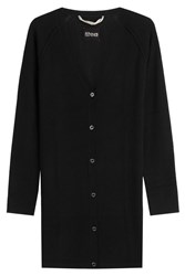 81 Hours By Dear Cashmere Long Cardigan Black