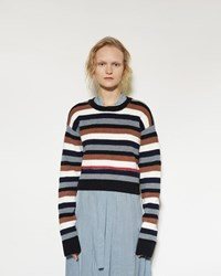 Marni Stripe Sweater Black