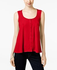 Styleandco. Style And Co. Swing Tank Blouse Only At Macy's New Red Amore