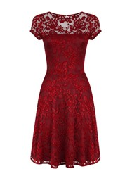 Hotsquash Lace Fit N Flare Dress Red
