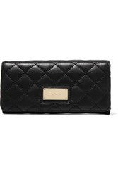 Dkny Quilted Leather Wallet Black