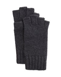 Goodman's Fingerless Knit Cashmere Gloves Charcoal Grey