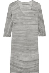 Raquel Allegra Tie Dyed Cotton Mini Dress Gray