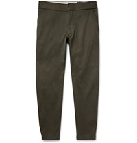 Alexander Mcqueen Skinny Fit Stretch Drill Trousers Army Green