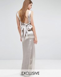 True Violet Drape Tie Back Maxi Dress Stone