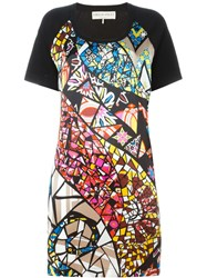 Emilio Pucci Stained Glass Print Dress Black