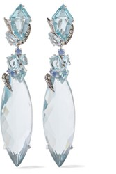 Alexis Bittar Sterling Silver Quartz And Sapphire Earrings
