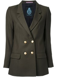 Guild Prime Military Blazer Green
