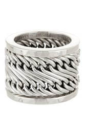 Lois Hill Woven Stacking 3 Ring Set Size 9 Gray