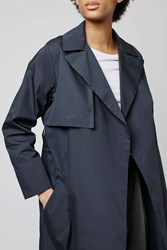 Oversized Trench By Boutique Navy Blue