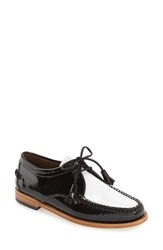 G.H. Bass Women's And Co. 'Winnie' Leather Oxford Black White Leather