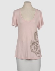 Juicy Couture Topwear Short Sleeve T Shirts Women Light Pink