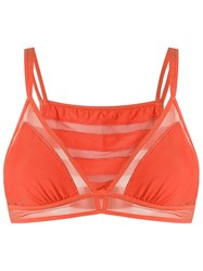 Giuliana Romanno Strappy Bra Yellow Orange