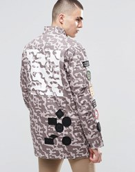 Heros Heroine Hero's Camo Parka With Patches Grey