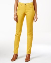 Styleandco. Style And Co. Curvy Fit Skinny Leg Colored Jeans Only At Macy's Radiant Gold
