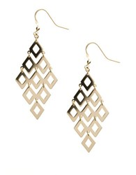 Lord And Taylor 14 Kt Gold Over Sterling Silver Chandelier Earrings