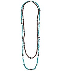 Kender West 262 Turquoise Brown Necklace Blue