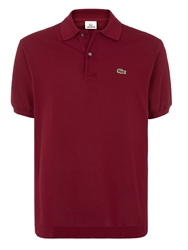 Lacoste Pique Men S Short Sleeve Polo Bordeaux