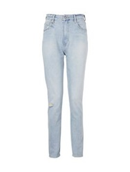 Neuw Lola Distressed Mom Jeans Melrose Blue
