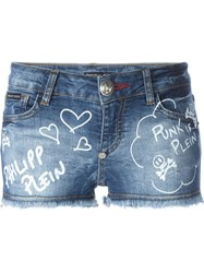 Philipp Plein 'Ritch Bitch' Shorts Blue