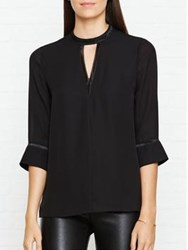 Reiss Kris Key Hole Trim Top Black
