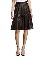 Romeo And Juliet Couture Solid Studded A Line Skirt Black