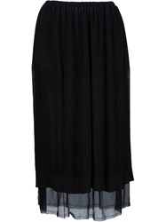 Raquel Allegra Layered Skirt Black