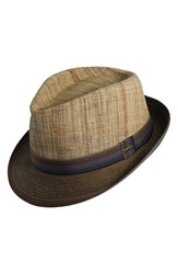 Men's Scala Straw Trilby